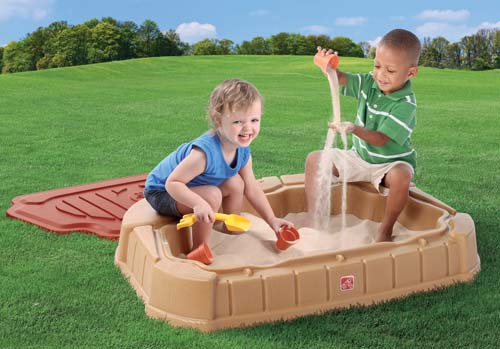 Naturally Playful® Little Dunes Sandbox Step2 Πλαστικά Παιχνίδια