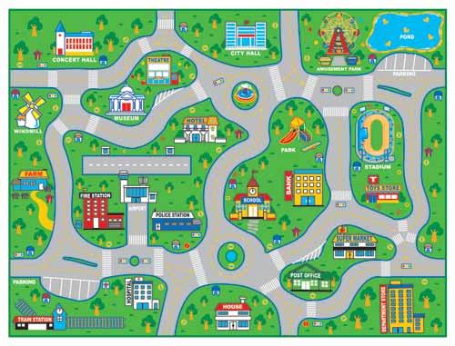 City Road Map Carpet - Carpet Vidalondon